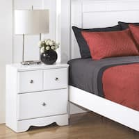 Signature Designs by Ashley Weeki White 2-drawer Nightstand