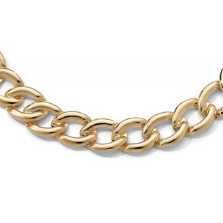 PalmBeach Curb Link Necklace in Yellow Gold Tone Tailored