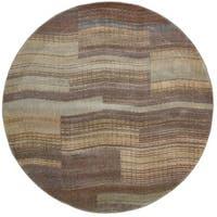 Nourison Somerset Aqua Rug (5'6 Round) - 5'6 x 5'6