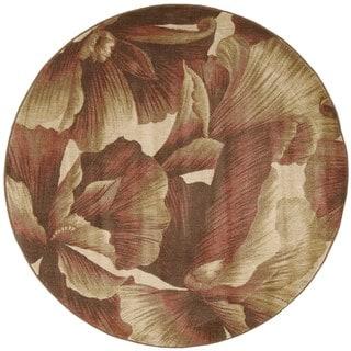Nourison Somerset Floral Multicolor Rug (5'6 Round)