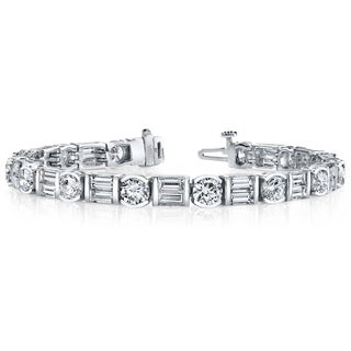 14k White Gold 8 1/2ct TDW Diamond Tennis Bracelet