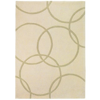Somette Trio Falling Circles Gold Area Rug (5' x 7'6)