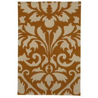 Somette Modern Highlights Two-tone Damask Area Rug (5' x 8')