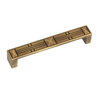 GlideRite 5-inch CC Antique Brass Craftsman Series Cabinet Pulls (Pack of 10)
