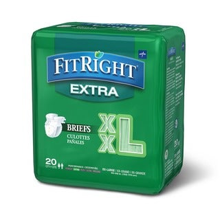 Medline FitRight Extra Briefs (80 Count)