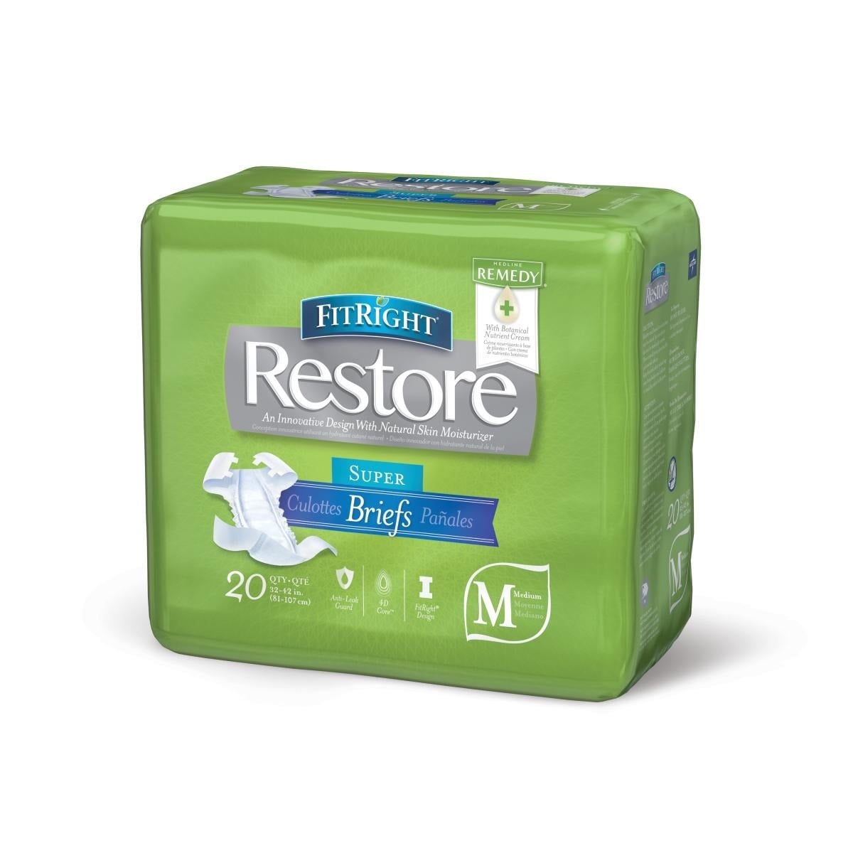 medline FitRight Restore Briefs with Remedy Skin Repair C...