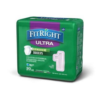 Medline FitRight Stretch Ultra Brief (80 Count)