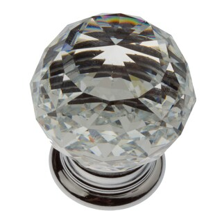 GlideRite 1.19-inch Clear K9 Crystal Cabinet Knobs (Pack of 10)