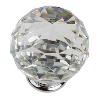 GlideRite 1.57 Inch Clear K9 Crystal Cabinet Knobs (Pack Of 10)