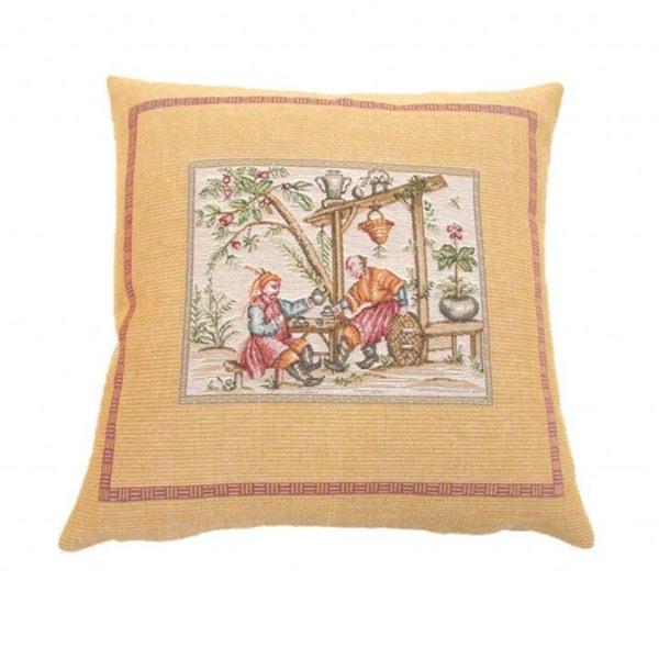 Corona Decor French Woven Country Design Decorative Throw Pillow