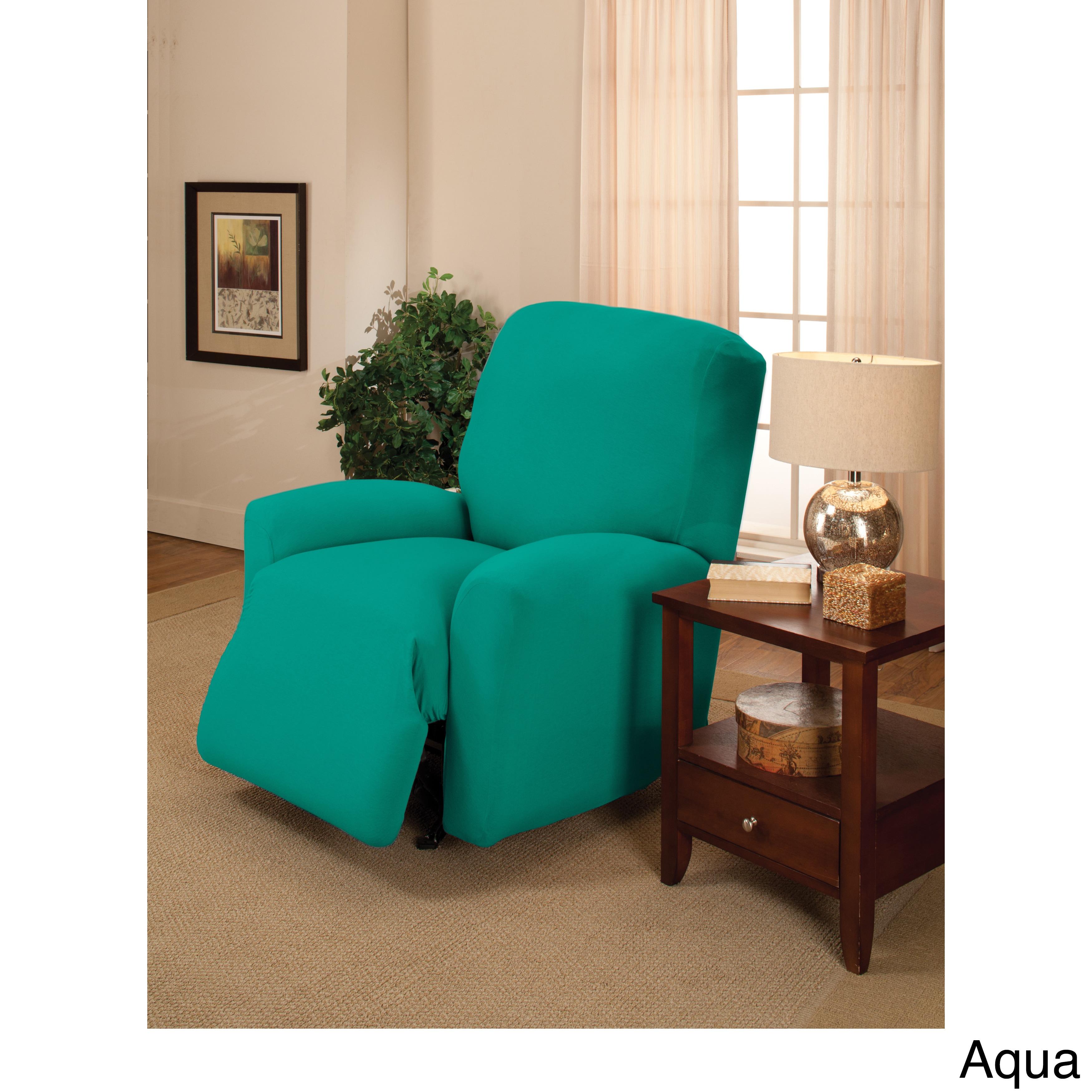 Faux Suede Recliner Chair Furniture Cover 3 Colors READ DESCRIPTION Max Wide 30