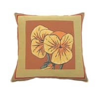 Corona Decor French Woven Pansy Design Decorative Throw Pillow