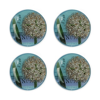 Notions Botanique Bleu (Set of 4) Canape Plate