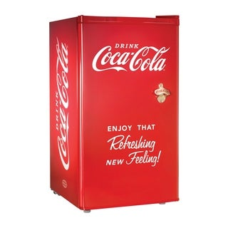 Nostalgia Electrics Coca-Cola Series 3 Cubic Foot Refrigerator / Freezer