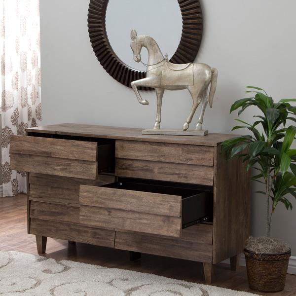 Clay Alder Home Venetian 6-drawer Brown/Grey Dresser