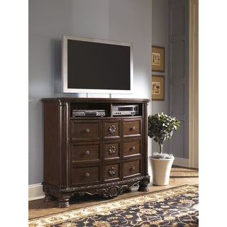 Signature Designs by Ashley 'North Shore' Dark Brown Media Chest