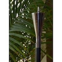 Polished Tuxedo Garden Torch