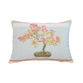 Corona Decor French Woven Bonsai Design Decorative Throw Pillow