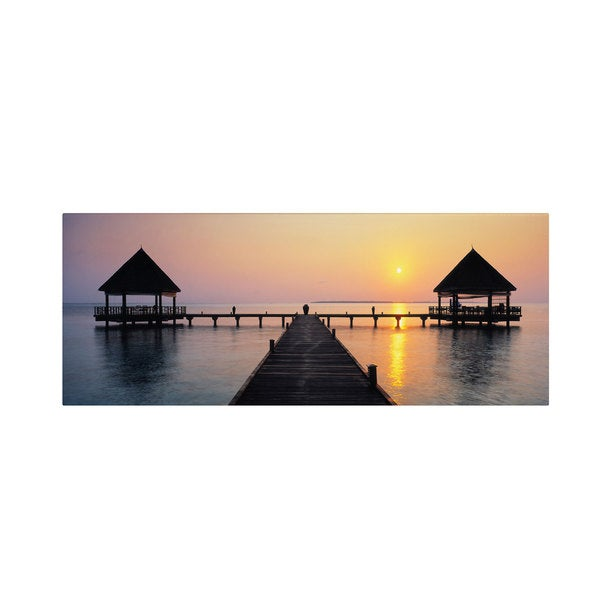 David Evans 'Sunset Hideaway' Canvas Art - Multi