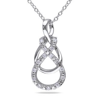 Miadora Sterling Silver 1/6ct TDW Diamond Infinity Necklace (G-H, I2-I3)