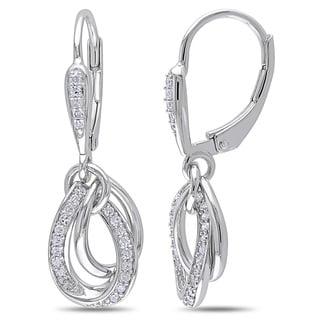 Miadora Sterling Silver 1/4ct TDW Diamond Dangle Earrings (H-I, I2-I3)