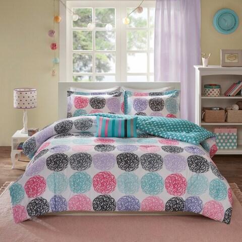 Mi Zone Audrina Purple Mini Printed Comforter Set