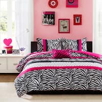 Mi Zone Gemma Pink Stripe 3-piece Comforter Set