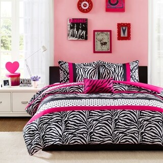 Mi Zone Gemma Pink Stripe 3-piece Comforter Set (3 options available)