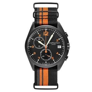 Hamilton Men's H76582933 Pilot Pioneer Black Watch|https://ak1.ostkcdn.com/images/products/9165498/Hamilton-Mens-H76582933-Pilot-Pioneer-Black-Watch-P16343208.jpg?impolicy=medium
