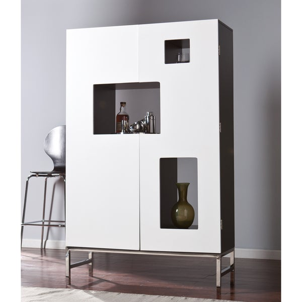 17 Really Cool Home Bar Designs That Are Worth Seeing: Harper Blvd Shadowbox Wine /Bar Cabinet