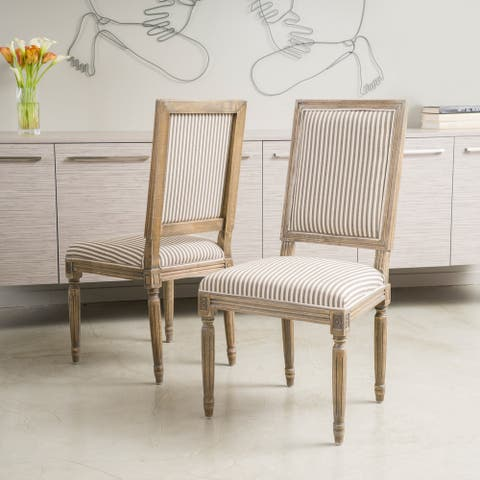 Madison Weathered Oak Dining Chair (Set of 2) by Christopher Knight Home
