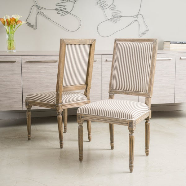 Madison Weathered Oak Dining Chair (Set Of 2) By Christopher Knight Home by Christopher Knight Home