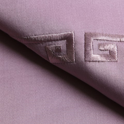 Superior 600 Thread Count Embroidered Deep Pocket Cotton Sateen Sheet Set