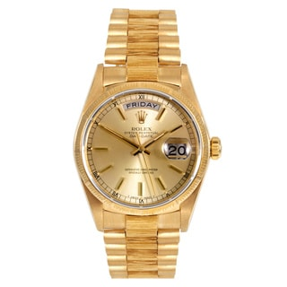 Pre-Owned Rolex Men's 18k Yellow Gold Presidential Watch