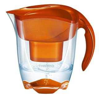 Mavea Elemaris XL Tangerine Orange Water Filtration Pitcher