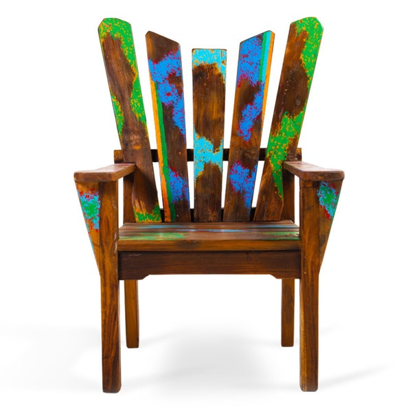 Dock Holiday Reclaimed Wood Chair