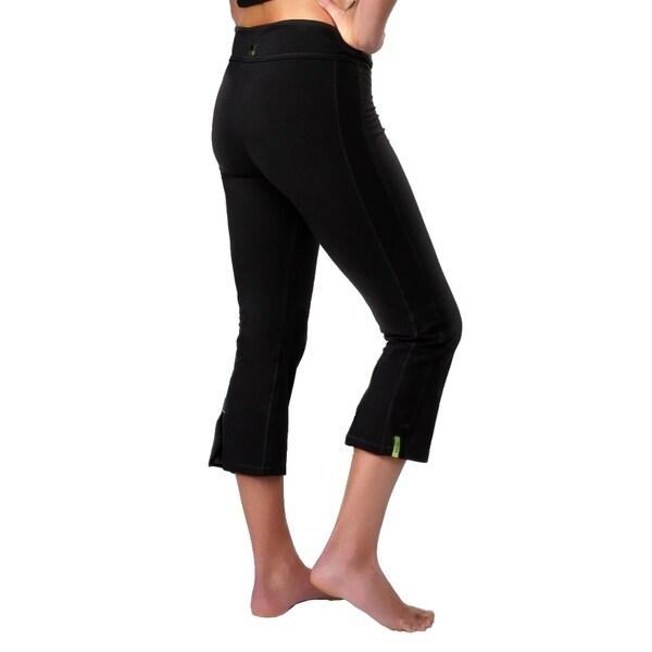 Yoga City Women's 'San Diego' Black Cropped Pants