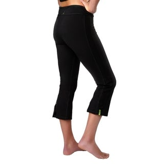 Yoga City Women's 'San Diego' Black Cropped Pants (2 options available)