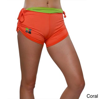 Yoga City Women's 'Miami' Active Shorts (Option: Medium, Coral)
