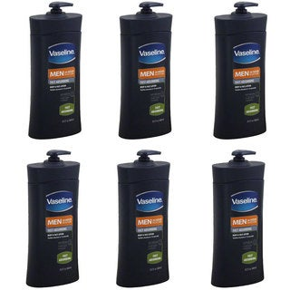 Vaseline Men's Fast Absorbing 20.3-ounce Body & Face Lotion (Pack of 6)