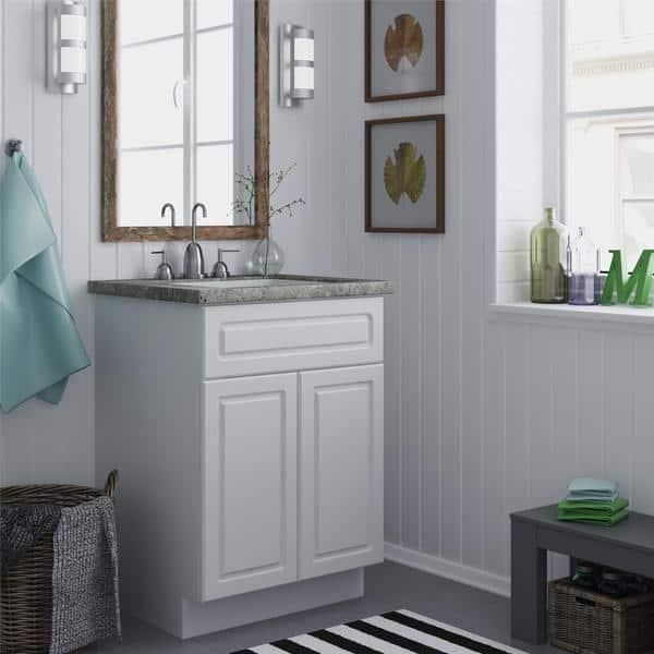 24 White Bathroom Vanity Cabinet Sink