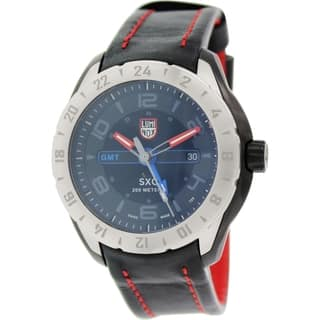 Luminox Men's 5127 Space Black Dial Black Leather GMT Watch|https://ak1.ostkcdn.com/images/products/9165765/P16343374.jpg?impolicy=medium