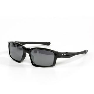 Oakley Unisex Chain Link Sunglasses in Polished Black with Black Iridium Lenses