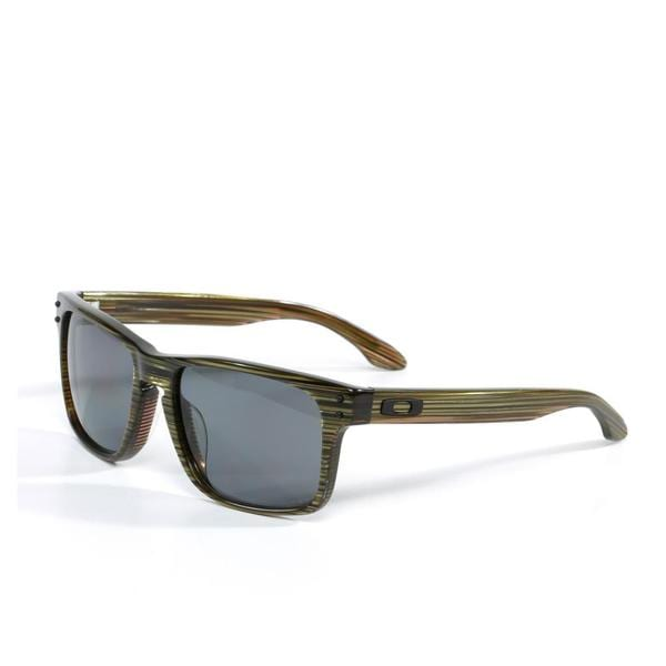 clearance oakleys bf2y  Oakley Unisex 'Holbrook' LX Sunglasses in Banded Green with Grey Polarized  Lenses