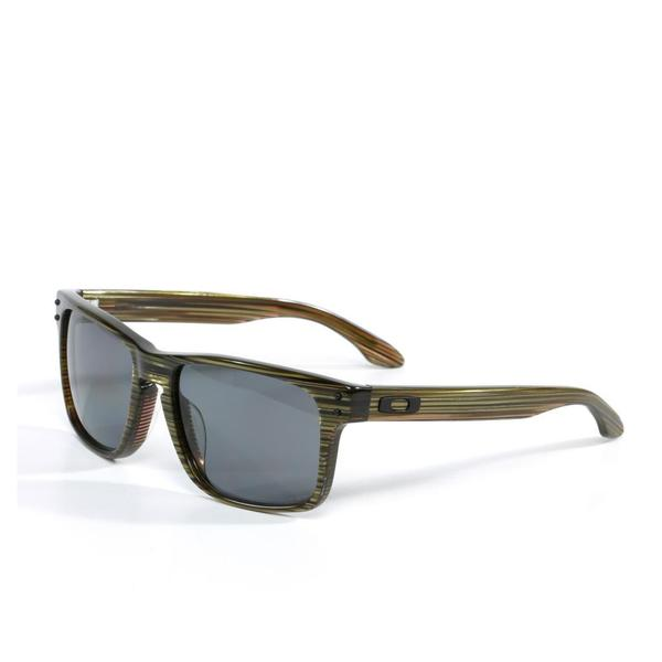 discount oakley sunglasses real  oakley unisex 'holbrook' lx sunglasses in banded green with grey polarized lenses