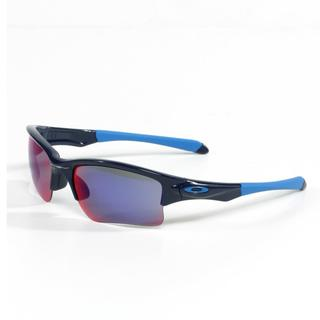 Oakley Youth 'Quarter Jacket' Sunglasses in Polished Navy with Red Iridium Lenses (Youth Fit)