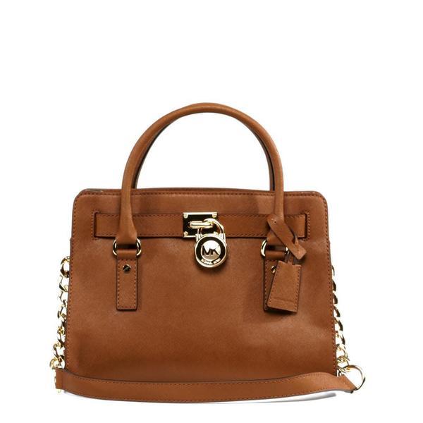 Michael Kors Hamilton East/West Brown Satchel Handbag