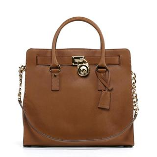 Michael Kors Hamilton Large Brown Tote Handbag