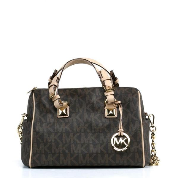8d2a8042f0bf Shop MICHAEL Michael Kors Grayson Chain Medium Satchel - Free ...