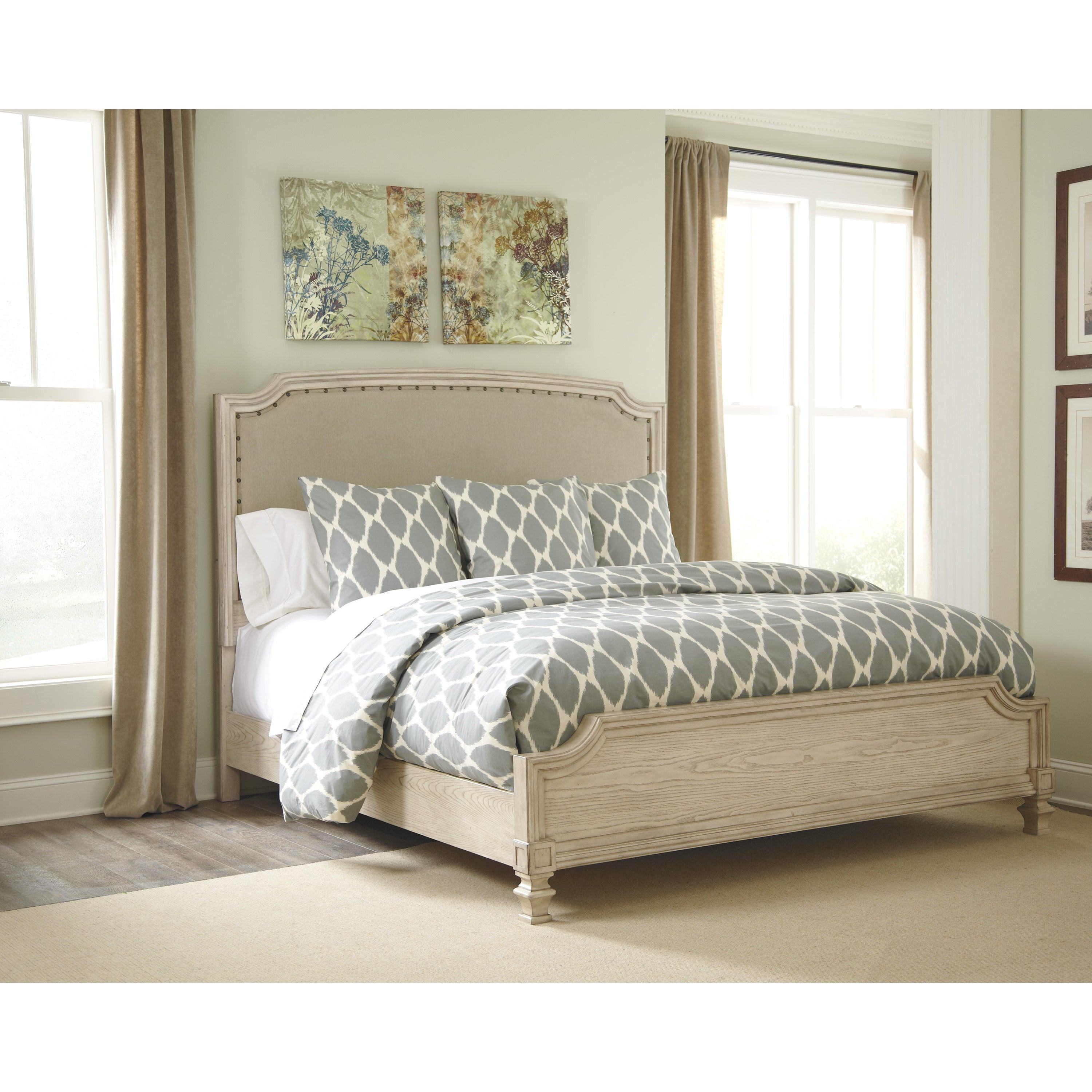 Signature Designs By Ashley Demarlos Parchment White California King Bed Overstock 9166436